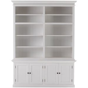 Halifax Tall White Bookcase with Storage - White Tree Furniture