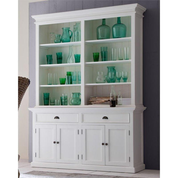 Halifax White Hutch Bookcase Unit BCA599 - White Tree Furniture