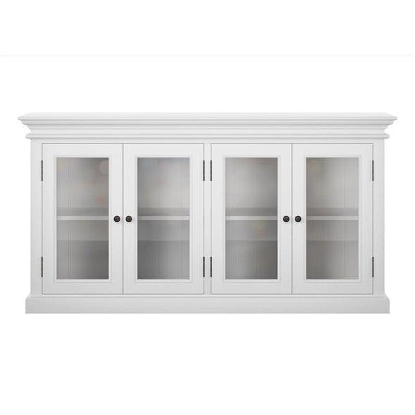 Halifax White Painted Large Display Buffet - White Tree Furniture