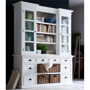 Halifax White Painted Library Hutch Unit - White Tree Furniture