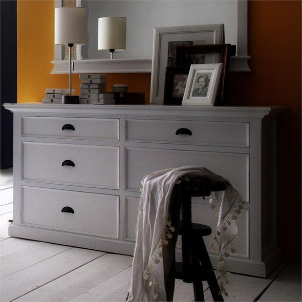 Halifax White Painted 6 Drawer Chest of Drawers - White Tree Furniture