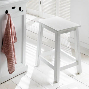 Halifax White Painted Kitchen Stools - White Tree Furniture