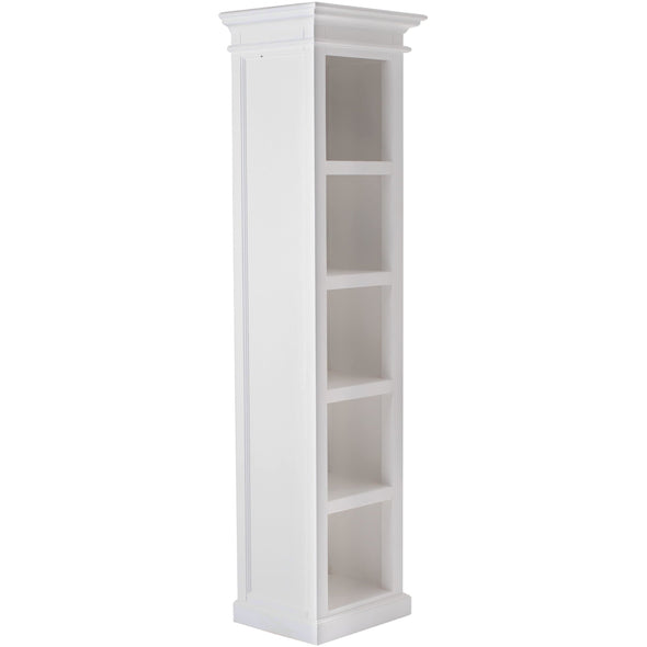 Halifax White Painted Tall Narrow Bookshelf - White Tree Furniture