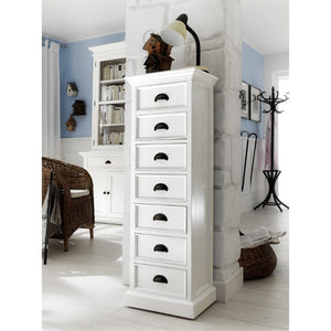 Halifax White Painted Tallboy with 7 Drawers - White Tree Furniture