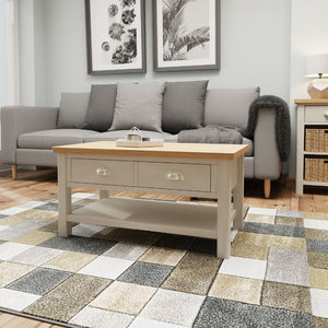 Toulouse Grey Painted Oak Large Coffee Table - White Tree Furniture
