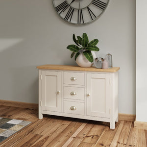 Toulouse Grey Painted Oak Large Sideboard - White Tree Furniture