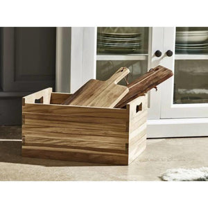 Nova Solo Bordeaux Set of 3 Small Teak Boxes TBS001