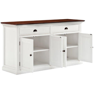 Nova Solo Halifax Accent White Painted Large Buffet Sideboard B127TWD
