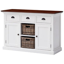 Nova Solo Halifax Accent White Painted Buffet Sideboard with Rattan Baskets B129TWD