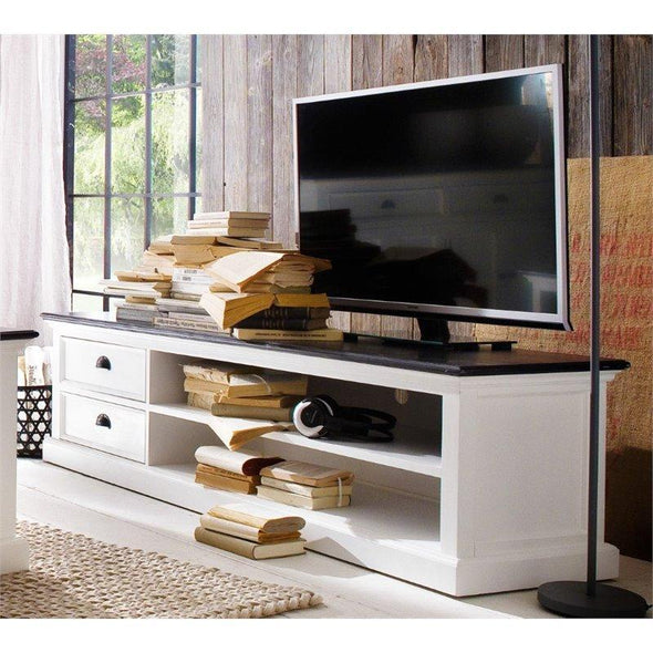 Nova Solo Halifax Contrast White Painted TV Stand with 2 Drawers 180cm CA592-180CT