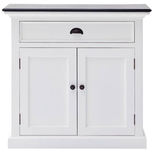 Nova Solo Halifax Contrast White Painted Small Buffet Sideboard with Wooden Top B180CT