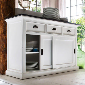 Nova Solo Halifax Contrast White Buffet with Sliding Doors B130CT