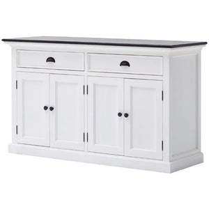 Nova Solo Halifax Contrast White Buffet with Wooden Top B127CT