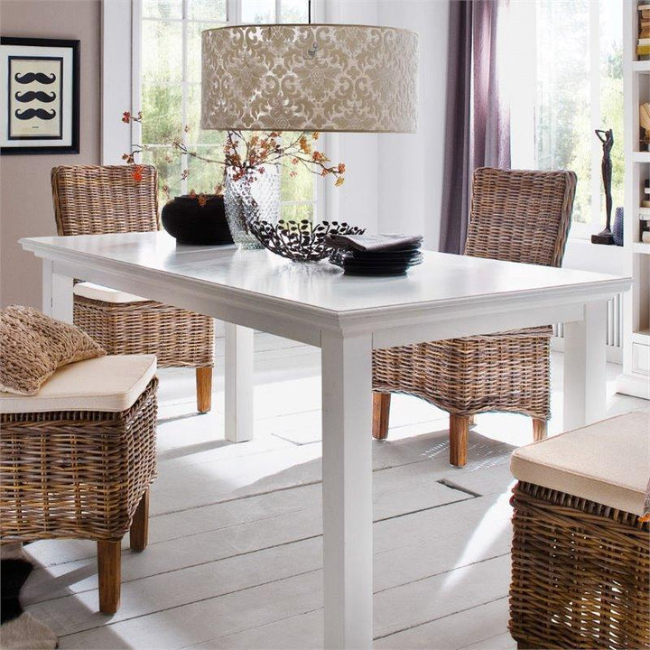 Halifax White Painted Dining Table 160cm T759-160 - White Tree Furniture