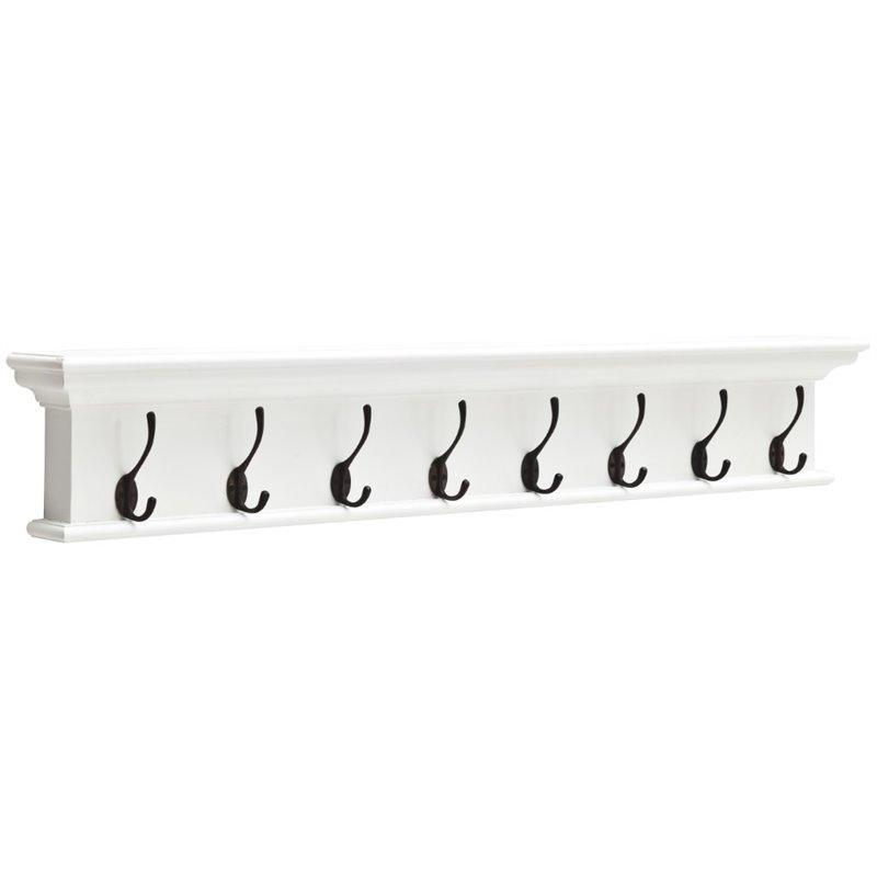 Nova Solo Halifax 8 Hook White Coat Rack 130cm D161
