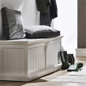Nova Solo Halifax White Painted Storage Chest BB002