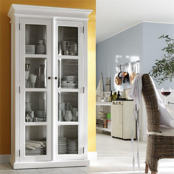 Halifax White Painted Glazed Display Cabinet CA595 - White Tree Furniture