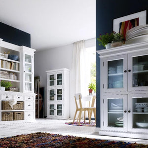 Nova Solo Halifax White Kitchen Pantry with 4 Drawers CA609