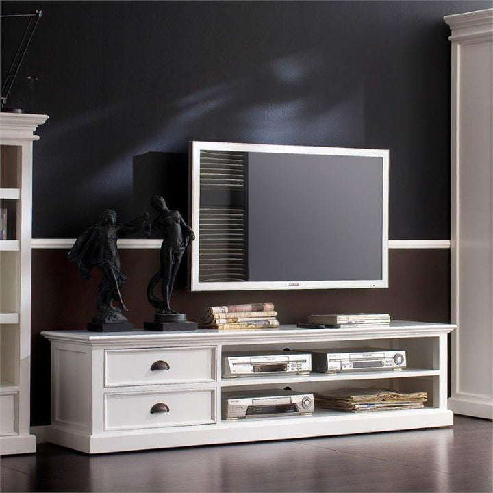 Nova Solo Halifax White Large TV Stand with 2 Drawers CA592-180