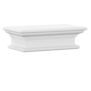 Nova Solo Halifax White Mahogany Floating Short Wall Shelf D163