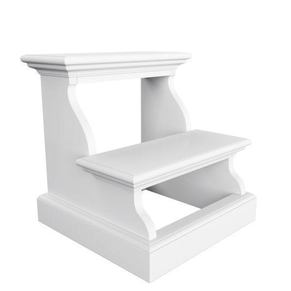 Halifax White Painted Bed Step Stool S001 - White Tree Furniture