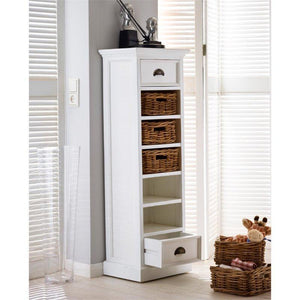Nova Solo Halifax White Storage Tower with Basket Set CA583