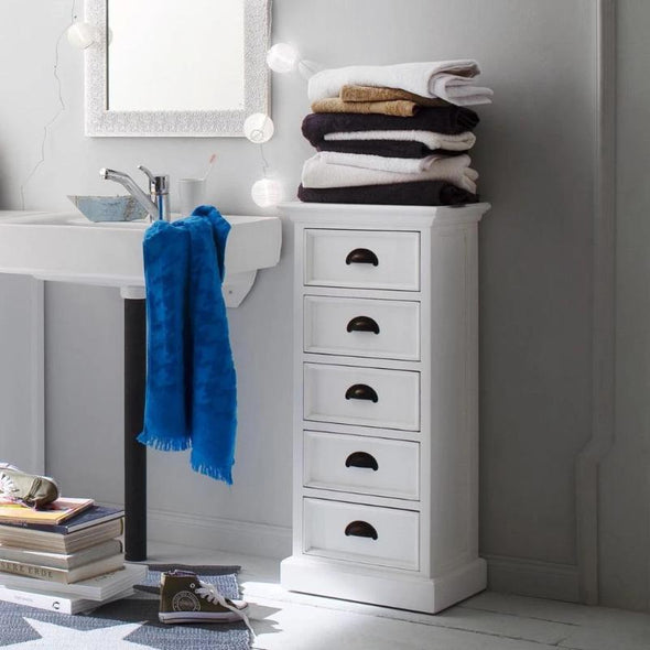 Nova Solo Halifax White Storage Unit with Drawers CA600