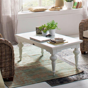 Nova Solo Provence White Painted Rectangular Coffee Table T775
