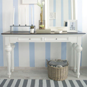 Provence Accent White Painted Console Table - White Tree Furniture