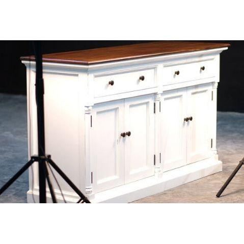 Provence Accent White Painted Large Buffet Sideboard - White Tree Furniture