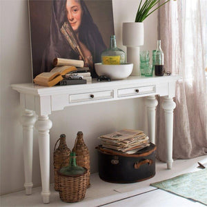 Provence White Painted Console Table - White Tree Furniture