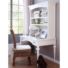 Provence White Painted Secretary Desk with Hutch - White Tree Furniture