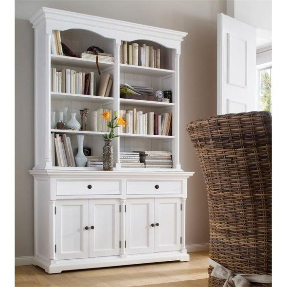 Provence White Painted Double Hutch Display Unit - White Tree Furniture