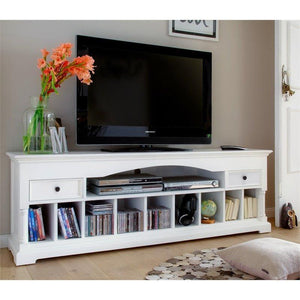 Provence White Painted Large TV Unit - White Tree Furniture