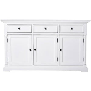 Provence White Painted Classic Sideboard with 3 Doors - White Tree Furniture
