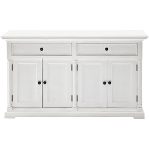 Provence White Painted Classic Sideboard with 4 Doors - White Tree Furniture