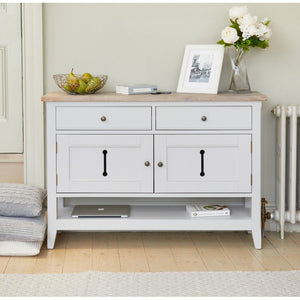 Baumhaus Signature Grey Console Table Sideboard - White Tree Furniture