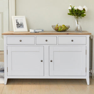 Baumhaus Signature Grey Large Sideboard - White Tree Furniture