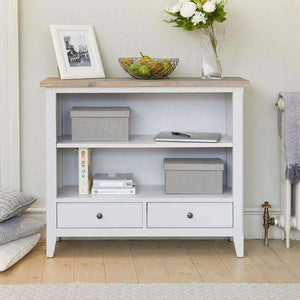 Baumhaus Signature Grey Low Bookcase - White Tree Furniture