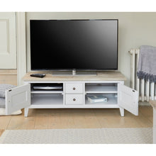 Baumhaus Signature Grey Widescreen TV Unit - White Tree Furniture