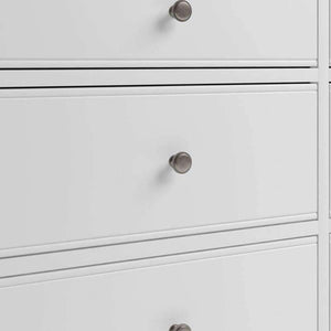 Alsace White Painted 6 Drawer Chest of Drawers - White Tree Furniture