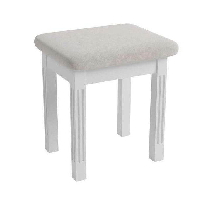 Alsace White Painted Dressing Table Stool - White Tree Furniture