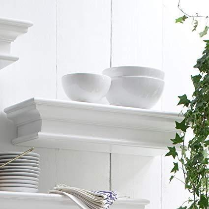 Halifax White Painted Floating Wall Shelf 60cm - White Tree Furniture