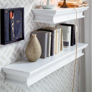 Halifax White Painted Wall Shelf 120 cm - White Tree Furniture