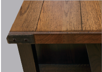 1 1/2˝ Thick Top Edges, Plank Grooved Tops