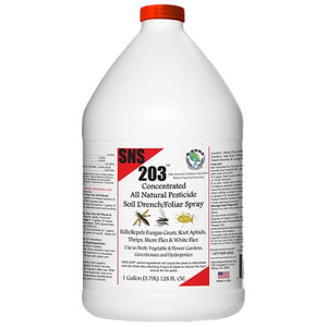 SNS 203 Concentrated Pesticide Soil Drench/Foliar Spray