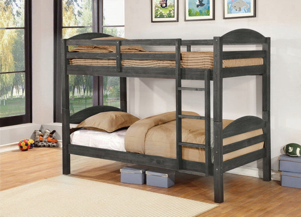 Gray bunk bed in Houston-Stafford Asy Furniture