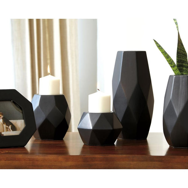 Black modern home decor set at Asy furniture houston-stafford