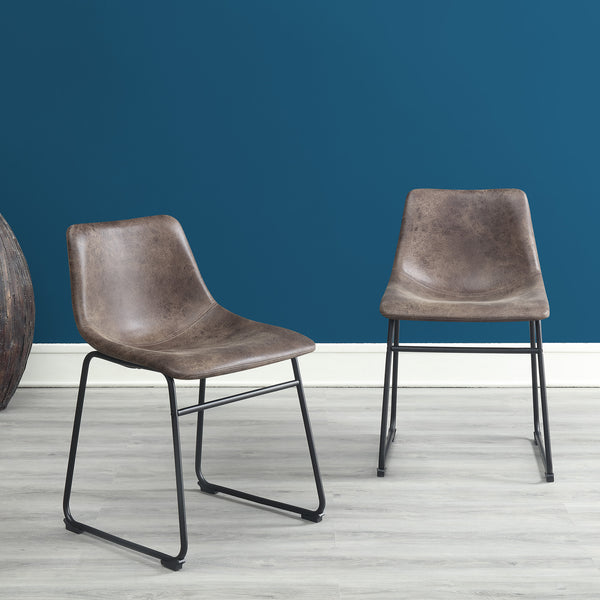 black sleek dining chairs for table set pack of 2