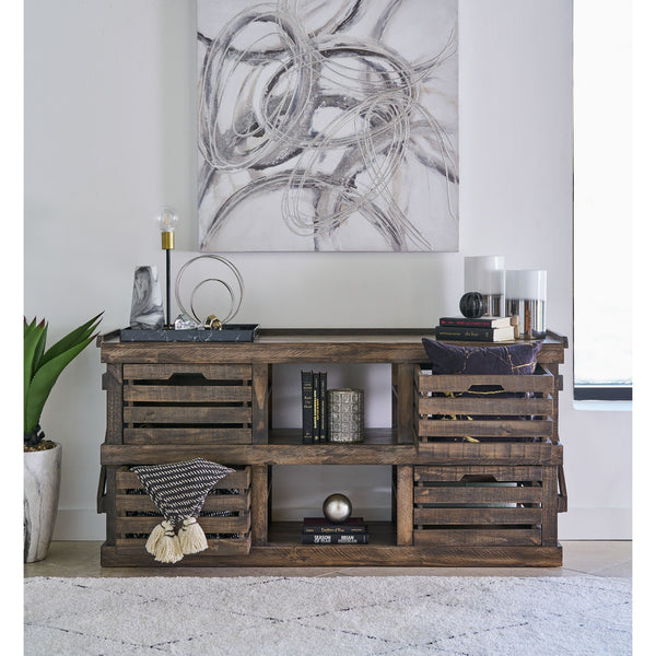 large tv stand in rustic style